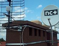 Montaż anteny SAT NC+ na ulicy Parkowej