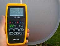 Ustawianie sygnału anteny satelitarnej